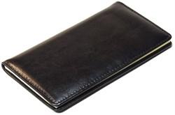 Книжка телефонная карманная, Malaga, натуральная кожа, черный - фото 3884