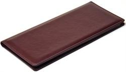 Визитница настольная на 96 визиток Sevilia бордовый темный - фото 4261