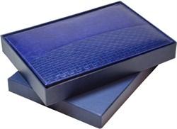 Коробка подарочная синяя под ежедневник А5 - фото 4475