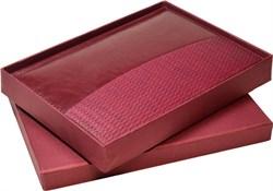 Коробка подарочная бордовая под ежедневник А5