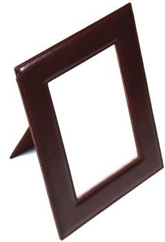 Рамка для фотографий, натуральная кожа, бордовый