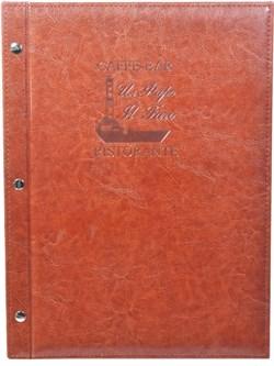 Папка меню, А4,  на внешних болтах - фото 4643