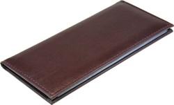 Визитница настольная на 96 визиток   Premium  коричневый темный - фото 5513