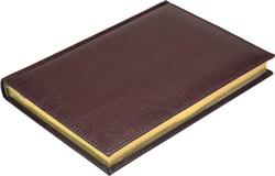 Ежедневник недатированный А5 Premium коричневый темный, золотой обрез