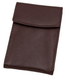 Визитница для собственных визиток Sun, натуральная кожа, коричневый
