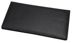 Бумажник дорожный Riviera, натуральная кожа, черный