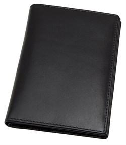 Обложка для паспорта с отделениями для кредитных карт Pluto натуральная кожа Kentucky черный