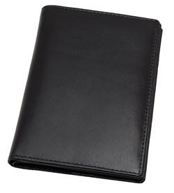 Обложка для паспорта с отделениями для кредитных карт Pluto, натуральная кожа Venezia, черный