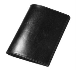 Обложка для паспорта Sotchi, натуральная кожа Brasile, черная
