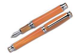 Ручка перьевая Signum Solare Arancio CT, перо золото 18К