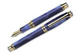 Ручка перьевая Signum Solare Azzurro GT, перо золото 18К