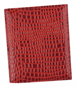 Визитница Croco натуральная кожа красный
