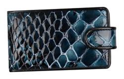 Визитная Reptilia натуральная кожа синяя