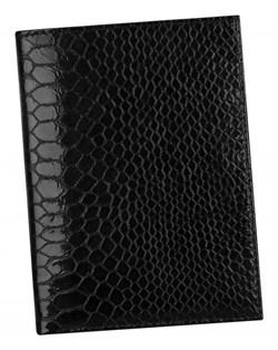 Бумажник водителя Laguna натуральная кожа отделка Сroco черный