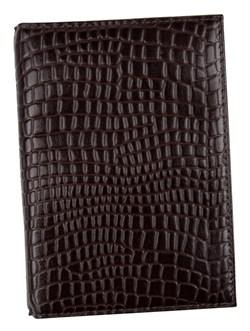Бумажник водителя Triumf натуральная кожа отделка Skat коричневый