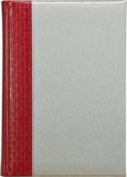 Ежедневник датированный А5 Texas красный Liga серебряный