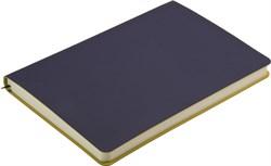 Ежедневник недатированный А5 Touch синий темный/желтый в гибкой обложке