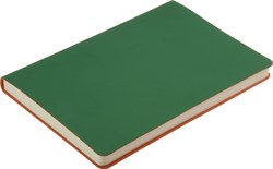 Ежедневник недатированный А5 Touch зеленый/оранжевый в гибкой обложке