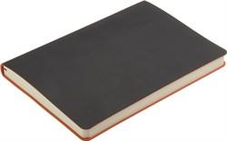 Ежедневник недатированный А5 Touch черный/оранжевый в гибкой обложке
