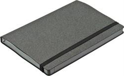 Ежедневник недатированный А5 Corduroy серый в гибкой обложке с резинкой