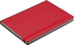 Ежедневник недатированный А5 Сatenella красный в гибкой обложке с резинкой