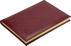 Ежедневник недатированный А5 Rich бордовый, золотой обрез