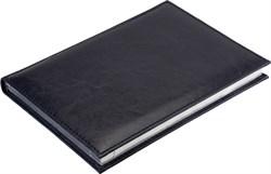Ежедневник недатированный А5 Rich синий темный, серебрянный обрез