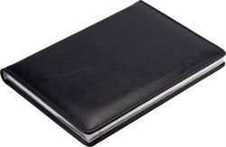 Ежедневник недатированный А5 Malaga синий, серебряный обрез