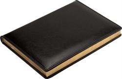 Ежедневник недатированный А5 Malaga черный, золотой обрез