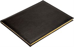 Еженедельник датированный на 2022 год А4 Premium черный золотой обрез