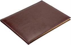 Еженедельник датированный на 2022 год А4 Premium коричневый темный золотой обрез