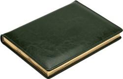 Ежедневник датированный на 2022 год А5 Malaga зеленый золотой обрез