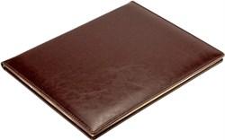 Еженедельник датированный на 2022 год А4 Malaga коричневый, золотой обрез