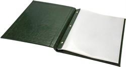 Папка меню А4 Rich на внутренних болтах зеленая
