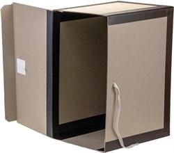 Короб архивный вертикальный 180*240*330 мм картон бумвинил
