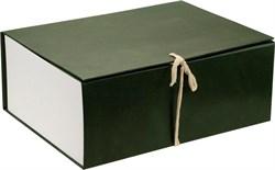 Короб архивный 240х180х330 мм с завязками бумвинил зеленый