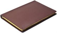 Ежедневник датированный на 2019 год А5 Mars коричневый, золотой обрез