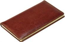 Книжка телефонная карманная, Malaga, натуральная кожа, коричневый
