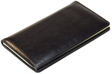 Книжка телефонная карманная, Malaga, натуральная кожа, черный