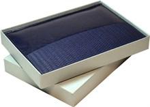 Коробка подарочная серая под ежедневник А5