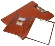 Папка для конференций А4 Rome, натуральная кожа, коричневая