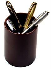 Подставка для ручек San Marino, натуральная кожа, коричневая