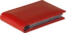 Визитница карманная, 36 визиток, Rich, красный