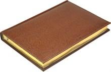 Ежедневник на 2019 год А5  Premium коричневый, золотой обрез