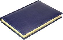 Ежедневник на 2019 год А5 Premium синий, золотой обрез