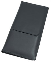 Бумажник дорожный Reise, натуральная кожа, синий