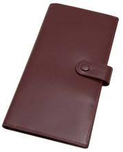 Бумажник дорожный Tokio, натуральная кожа, бордовый