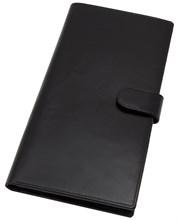 Бумажник дорожный Tokio, натуральная кожа, черный