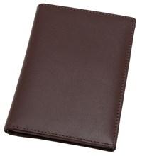 Обложка для паспорта с отделениями для кредитных карт Pluto, натуральная кожа, коричневый