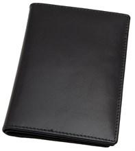 Обложка для паспорта с отделениями для кредитных карт Pluto, натуральная кожа Brasile, черный